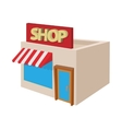 Shop building icon cartoon style vector image vector image