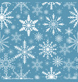snowflakes seamless pattern frosty repeating vector image vector image