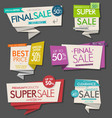 super sale flyer layout with colorful banners vector image vector image