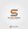 synchron - monogram letter s logo vector image vector image