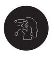 technical mind black concept icon vector image vector image