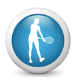 Tennis glossy icon vector image vector image