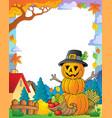 thanksgiving theme frame 3 vector image