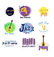 the most enjoyable time is jazz in nature vector image vector image