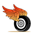 tire wings vector image vector image