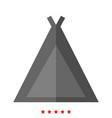 tourist tent icon different color vector image