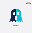 two color ghosts icon from halloween concept vector image vector image