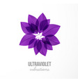 ultraviolet purple grunge leaves in circle on vector image