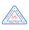 usa triangle travel stamp for passport red and vector image vector image