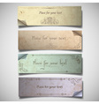 vintage banners in pastel tones vector image