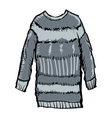 winter pullover vector image vector image