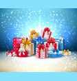 year holiday present box gift vector image