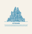 City scape thin flat eps 10 vector image