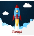 Space rocket launch Concept for startups vector image