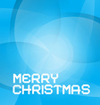 Abstract Blue Merry Christmas Background vector image