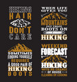 Adventure quote set adventure camping hiking set
