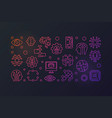 ai technology colored horizontal banner vector image