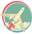 Airplane emblem vector image vector image