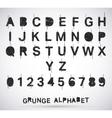Alphabet grunge font vector image