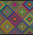 Aztec themed diamond colourful pattern design
