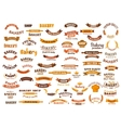 Bakery and pastry shop design elements vector image vector image