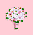 beautiful wedding bouquet vector image vector image