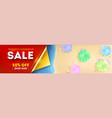biggest weekend sale top view seashore vector image