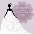 Bride in a white wedding dress vector image vector image
