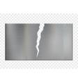 broken metal plate with a crack vector image vector image