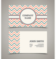 Business card template with background pattern vector image