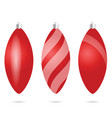 chrismas ball red set vector image vector image