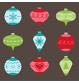 Christmas tree ornaments vector image