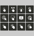 click icons vector image vector image