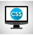 computer web development css icon vector image vector image