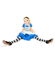 Confused Alice vector image vector image