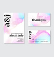 contrast holographic wedding invitation design vector image