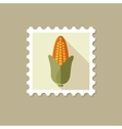 Corn flat stamp with long shadow vector image vector image