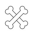 cross bones halloween related icon pixel perfect vector image vector image