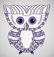 Cute Purple Abstract Owl vector image vector image