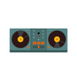 double turntable disc jockey graphic vector image vector image