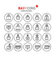 easy icons 44b computer crime vector image vector image