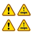 Exclamation Sign Danger sign Oops Isolated vector image