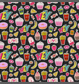 fashion seamless pattern with patches cartoon vector image vector image