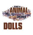 find animal dolls for your child text background vector image vector image