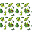 fresh avocado seamless pattern texture vector image