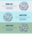 garage sale or flea market concept vector image vector image