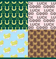 good luck seamless pattern farewell vector image vector image