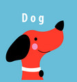 graphics portrait a red dog vector image