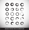 Grunge vintage circle logo elements set vector image