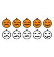 Halloween Pumpkin Emoji icons vector image vector image